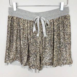 Anthropologie | Sequin Embellished Silk Shorts